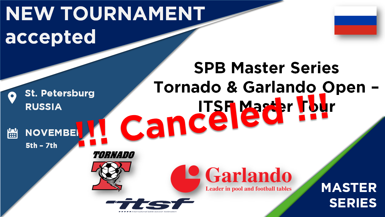Tournament must be canceled -